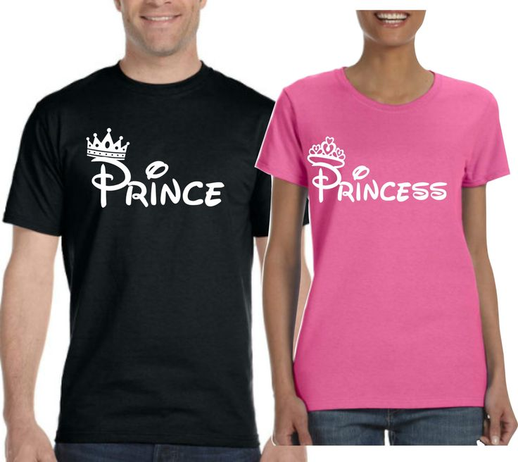 Prince and Princess T-shirt. Couple T-shirts. Prince and Princess Tshirts.  2 t-shirts Included. for him. for her. Valentines T-shirts  LOVE by SuperTeesandHats on Etsy
