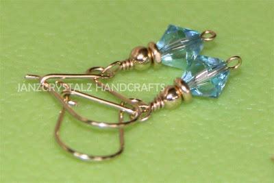 JanzCrystalz Handcrafts: Swarovski Girly Earrings (JCE-05)