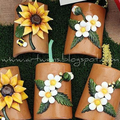 Tegole fiori by ArtWen su misshobby.com
