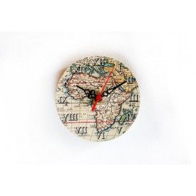 Africa Wooden Clock, Magnetic Clock