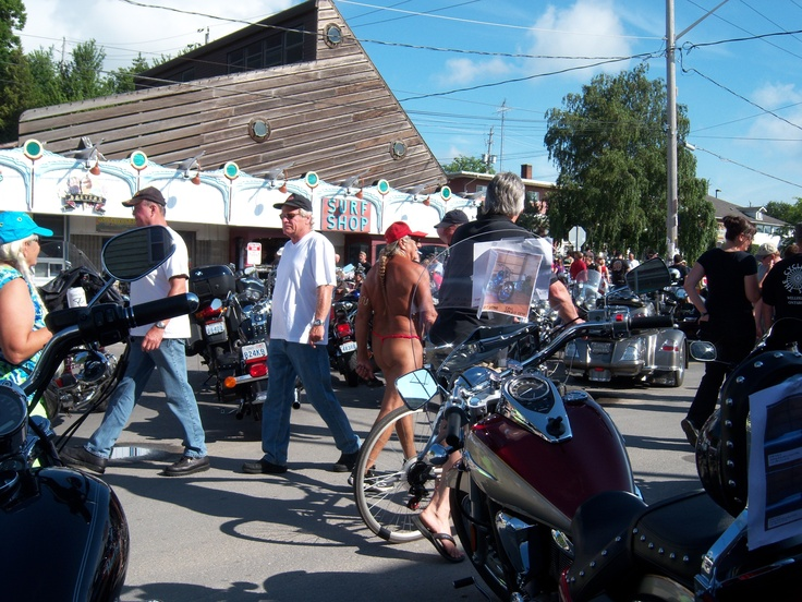 100,000 plus bikes and bikers tomorrow at Port Dover, Ontario, for Friday the 13th!