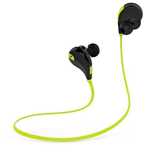 SoundPEATS QY7 V4.1 Bluetooth Mini Lightweight Wireless Stereo Sports Headphone - Black/Green