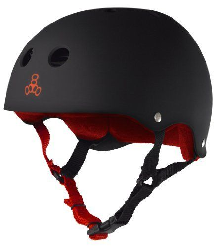 """Triple 8 Brainsaver Heed Rubber Helmet (Black, XX-Large) by Triple 8. $45.84. Our renowned Brainsaver rubber helmet is one of the best multi-impact helmets available. This helmet can be used as necessary protective gear for skateboarding, in-line skating (""""rollerblading""""), roller derby, and scooters. This helmet is not for bicycle use. As well, at Triple Eight we know that sweating while skateboarding sucks, so our techies here listened to our top riders, went back to the drawing..."""