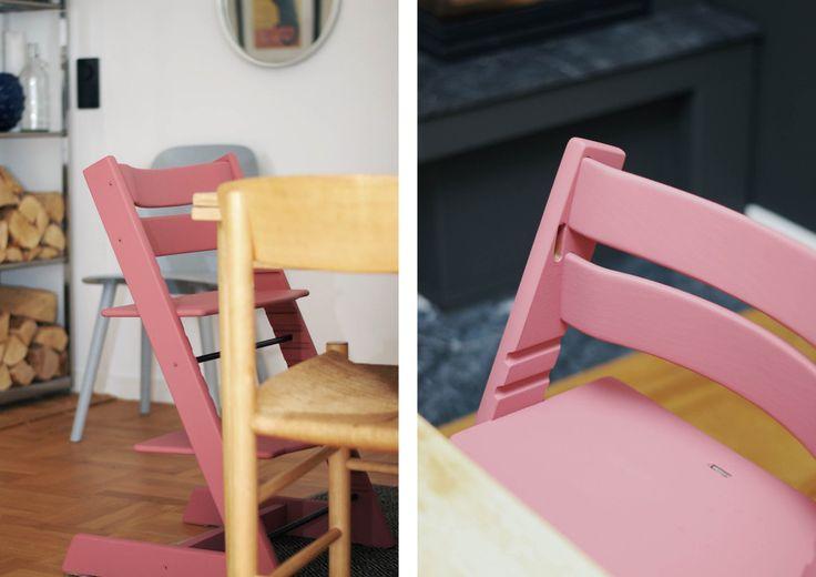 DIY måla Tripp Trapp stol Stokke med Vintage färg