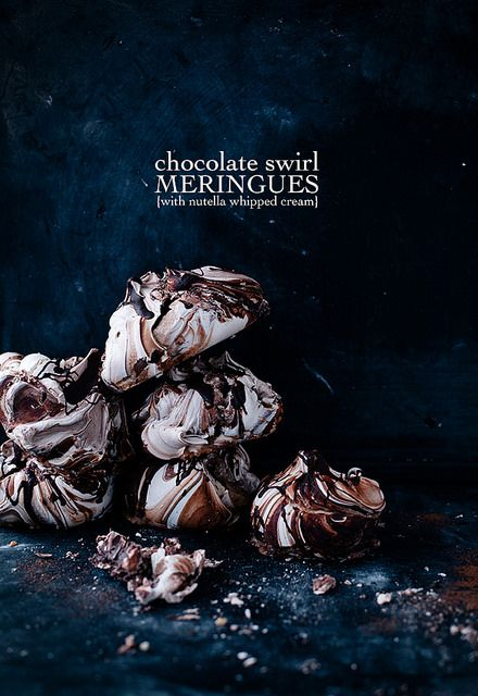 Chokolade marengs med nutella.