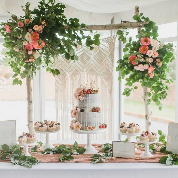 17 Epic Floral Arches And How To Get One Cake Table Decorations Cake Table Decorations Birthday Cake Table Backdrop