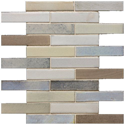 "Kitchen Wall Tiles Sri Lanka: Lava Mosaics 1"" X 6"" - Sri Lanka Brick Mosaic"