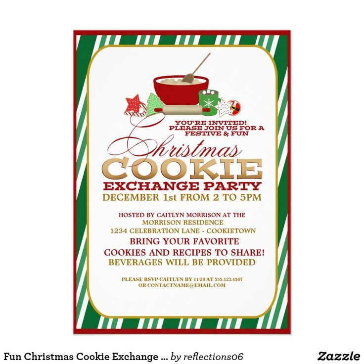52 best Cookie Exchange Invitations images on Pinterest | Trends ...