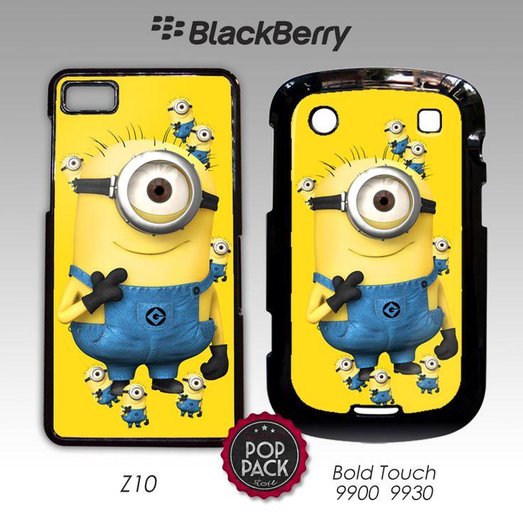 Cute Despicable Me Minion BB BlackBerry Z10 Q10 Dakota Montana Bold Touch 9900 9930 Cover Case - Cute Minions BlackBerry Case
