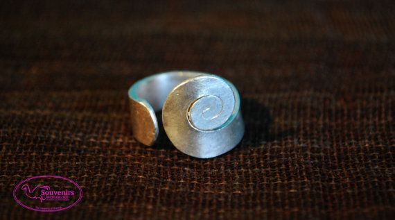 Ring Sterling Silver Helix Symbol by SouvenirsAtChiangMai on Etsy
