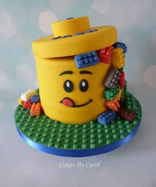 gateau anniversaire lego design