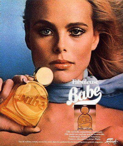Margaux Hemingway, nieta de Ernest Hemingway, supermodelo de los 70's. Primer contrato de millón de dlls otorgado a una modelo. Por dislexia no leyó mucho a su abuelo. Fabergé (Perfumes) 1977 Babe Vintage advert Perfumes | Hprints.com