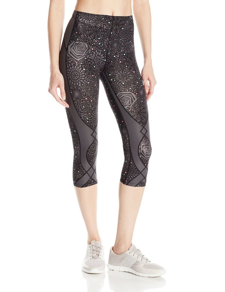 CW-X Women's Stabilyx Tights, Grey Rose Print, X-Small. Our patented exo-web provides excellent targeted joint support to the hip, pelvis, knees and calf. The exo-web provides targeted support to lower abdominal muscles, back and hamstrings and calf for extra stability and power. Coolmax fabric helps keep the body dry by pulling moisture away from the skin. The exo-web works to band together the muscles and ligaments of the knee joint. This helps to stabilize and support the joint....