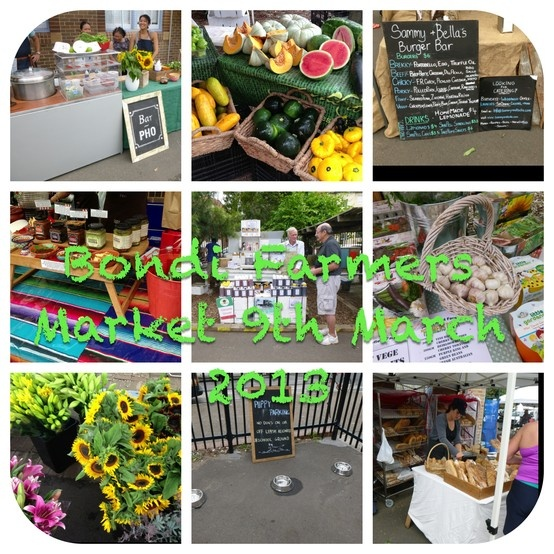 Bondi Farmers Market: every Saturday from 9am to 1pm at Bondi Beach Public School