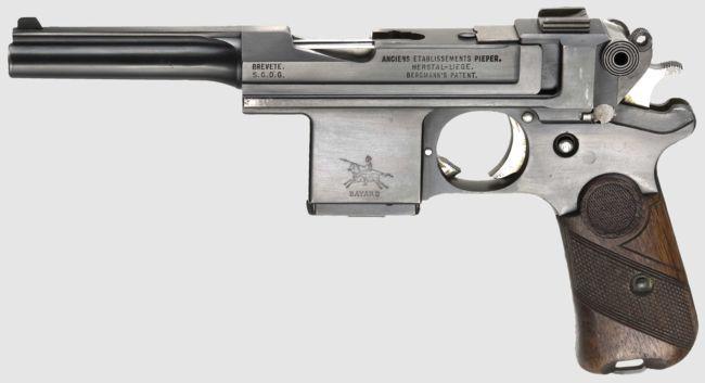 Bergmann Bayard model 1908 pistol, made in Belgium by Pieper.