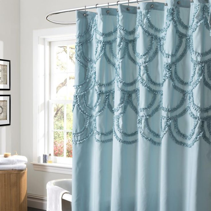 Lush Decor Chic Blue Shower Curtain By Lush Decor