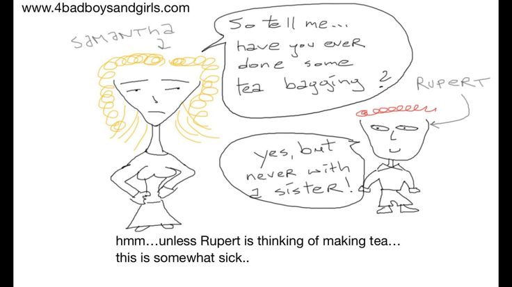 Teabagging. Thirsty for some tea?