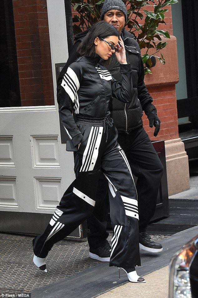Kendall Jenner poses with Hailey Baldwin at Adidas event | Daily Mail Online