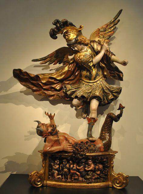 Arcángel San Miguel (segunda mitad del S XVIII). Felipe de Espinabete. Museo Nacional de Escultura de Valladolid