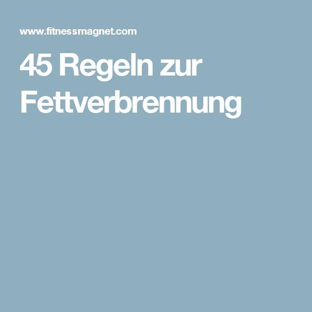 45 Regeln zur Fettverbrennung
