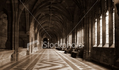 Medieval Cloisters at Worcester Cathedral