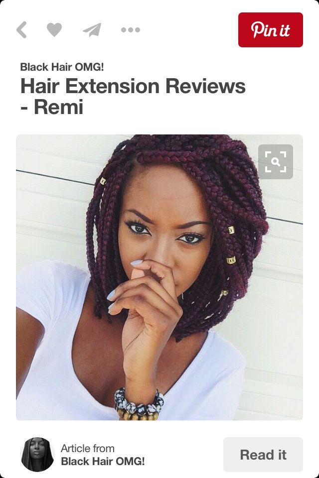 Love these box braids in a bob