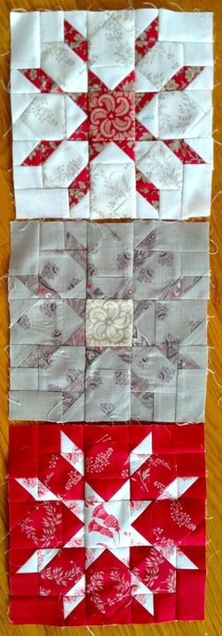 Mini Swoon block using French General fabrics. These will make a great mini quilt! #frenchgeneralfabrics #miniswoonblock #miniswoon