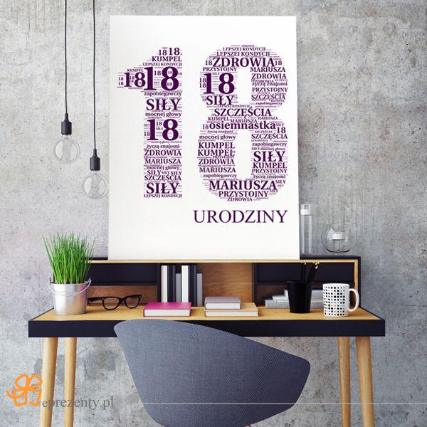 Obraz na płótnie stworzony ze słów to oryginalny pomysł na #prezent z okazji 18 #urodzin! http://bit.ly/1GOzvGf