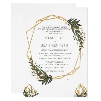 ANY COLOR - Rustic Terrarium Wedding Invitation - glitter glamour brilliance sparkle design idea diy elegant