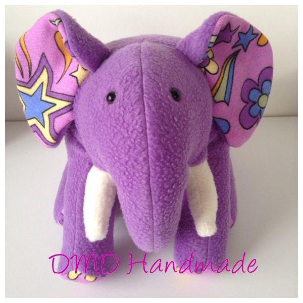Cute Elephant Softie, Handmade by me, Ellie the Elephant pattern was used by Funky Friends Factory
