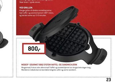 Weber® gourmet bbq system vaffel- og sandwichjern