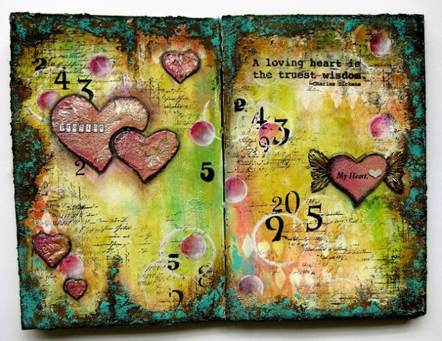 PaperArtsy: 2016 #21 Promise - Journal Page {by Sanda Reynolds}