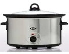 Briscoes Zip Elegance 6.5 Litre Stainless Steel Slow Cooker
