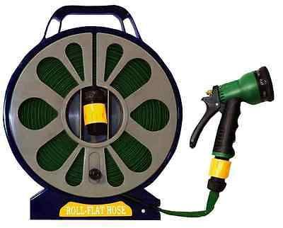 15m 50ft #garden flat hose pipe reel #spray gun nozzle #hosepipe,  View more on the LINK: 	http://www.zeppy.io/product/gb/2/262459255560/