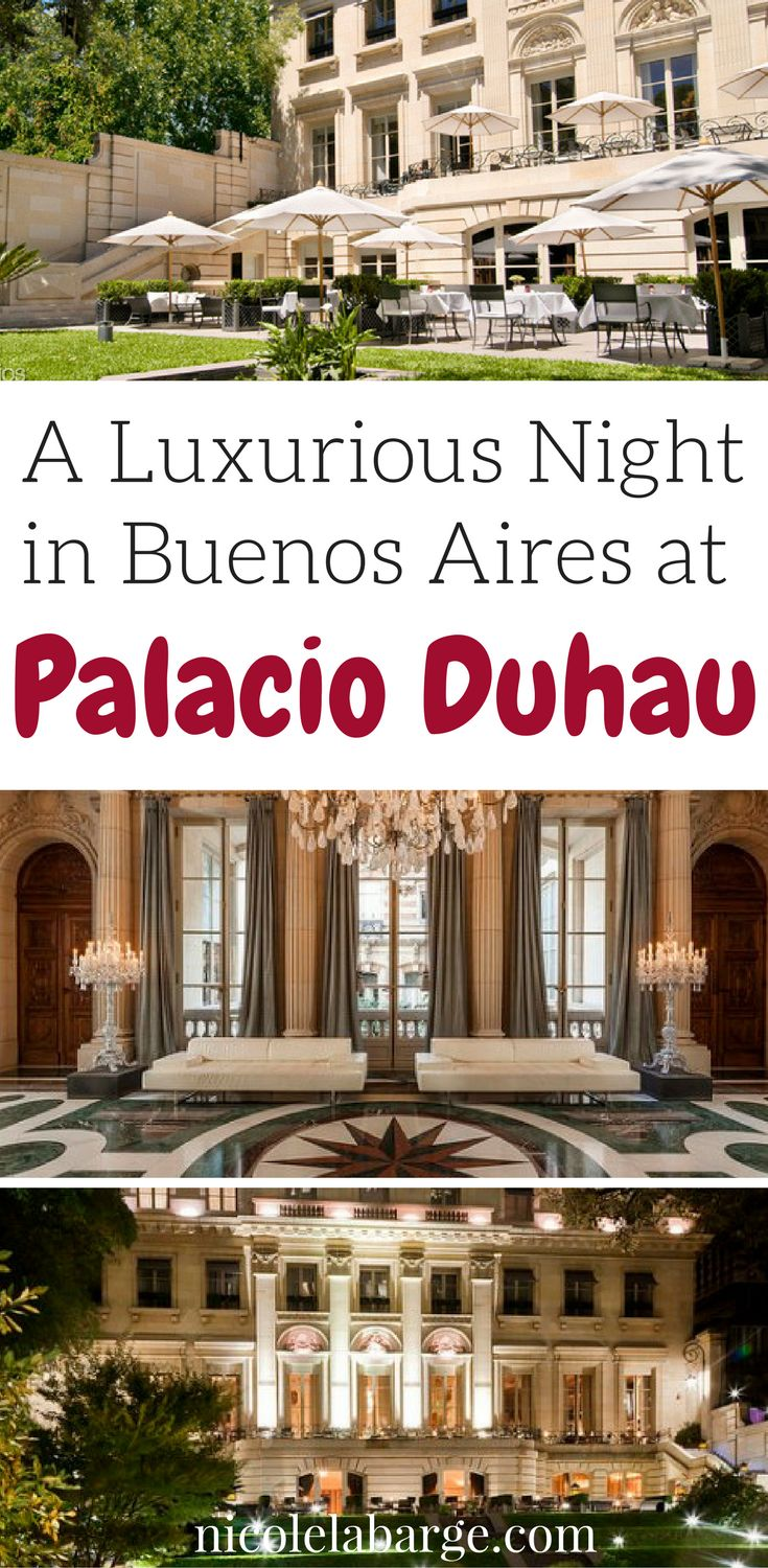Buenos Aires has a lot of history and beautiful places to stay.  For a luxurious stay I highly recommend the Palacio Duhau in Recoleta.  An old Palace in the historical part of Buenos Aires and an amazing grounds.  #argentina #hotelsinbuenosaires #recoleta