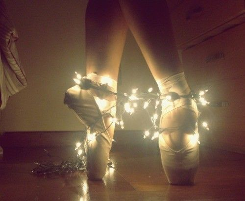 ballet shoes and lights...(want to do this with Paris!)