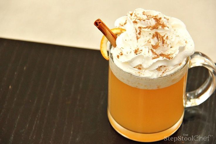 This recipeforOrange Apple Cidergives tropical twist thatcan be served warm or cold.  Super fun and super easy kid-friendly drink recipe.