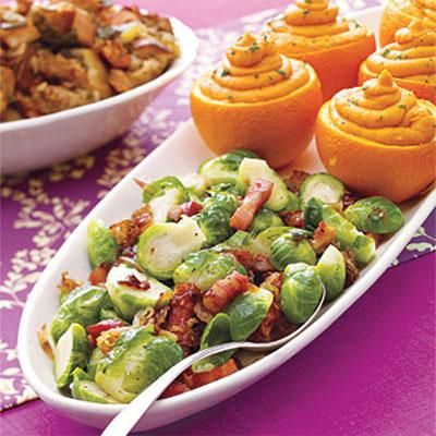Thanksgiving recipes: Brussels Sprouts with Caramelized Onions