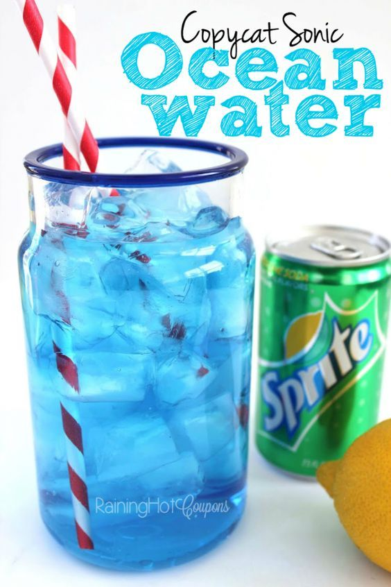 Copycat Sonic Ocean Water Drink Recipe... so delicious and refreshing! …