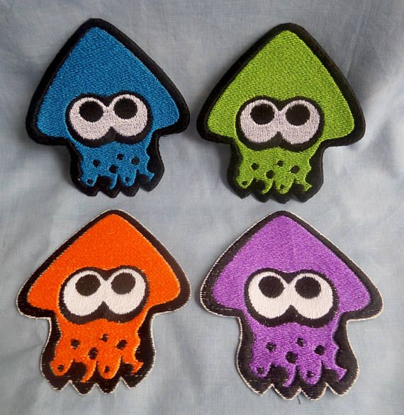 Accessorise in style with these cute Splatoon squid patches! Patches measure approximately 8cm x 9cm and are made with an iron on or sew on backing and are made to order. As such, please allow 5-10 working days for your order to be made. Patches use HeatnBond heavy duty strength iron