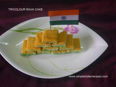Tricolour Rava Cake - Tiranga Cake | Simple Indian Recipes