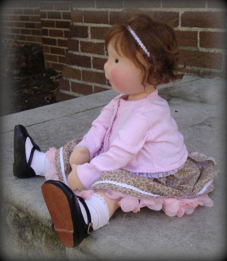 Zoe-handmade natural fiber doll by Mon Petit Frère