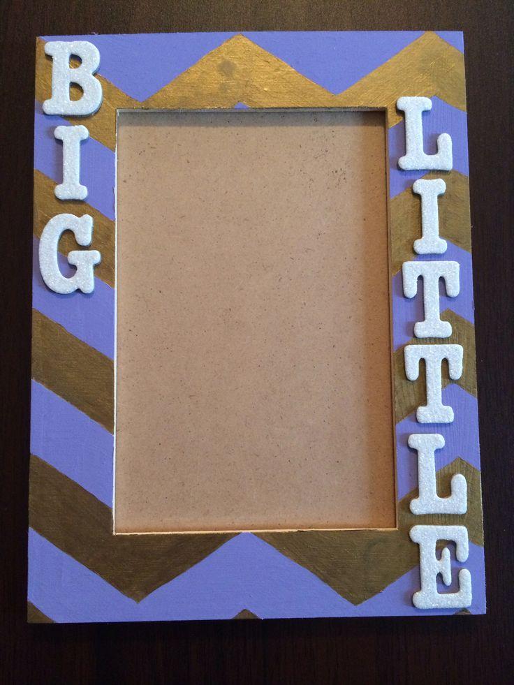 Delta Phi Epsilon big/little chevron picture frame