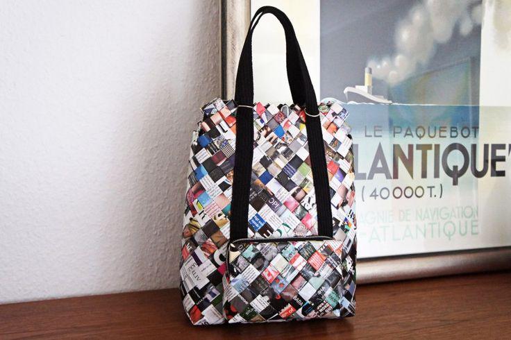StyleDesignCreate: trenzado de papel mochila