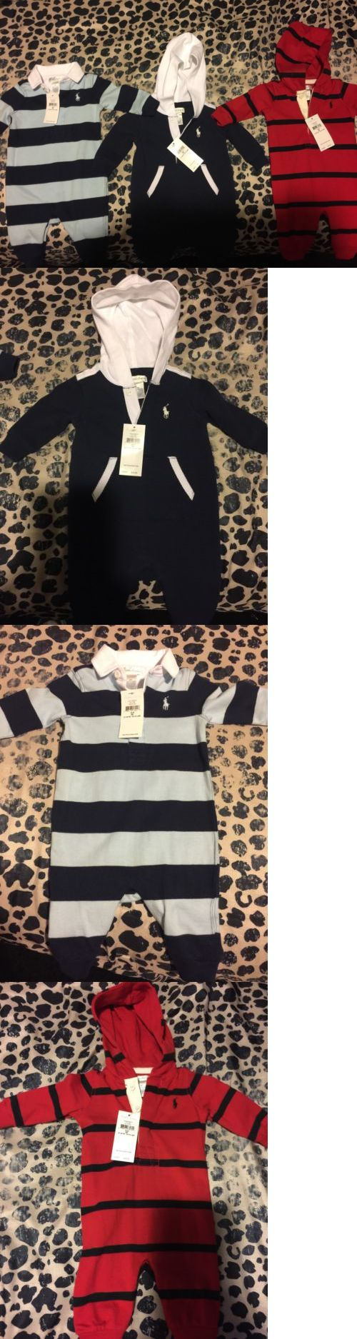 Baby Boys Clothing And Accessories: Nwt Baby Polo Ralph Lauren Lot Of 3 Boys Long Sleeve Bodysuits 0-3 Months BUY IT NOW ONLY: $80.0