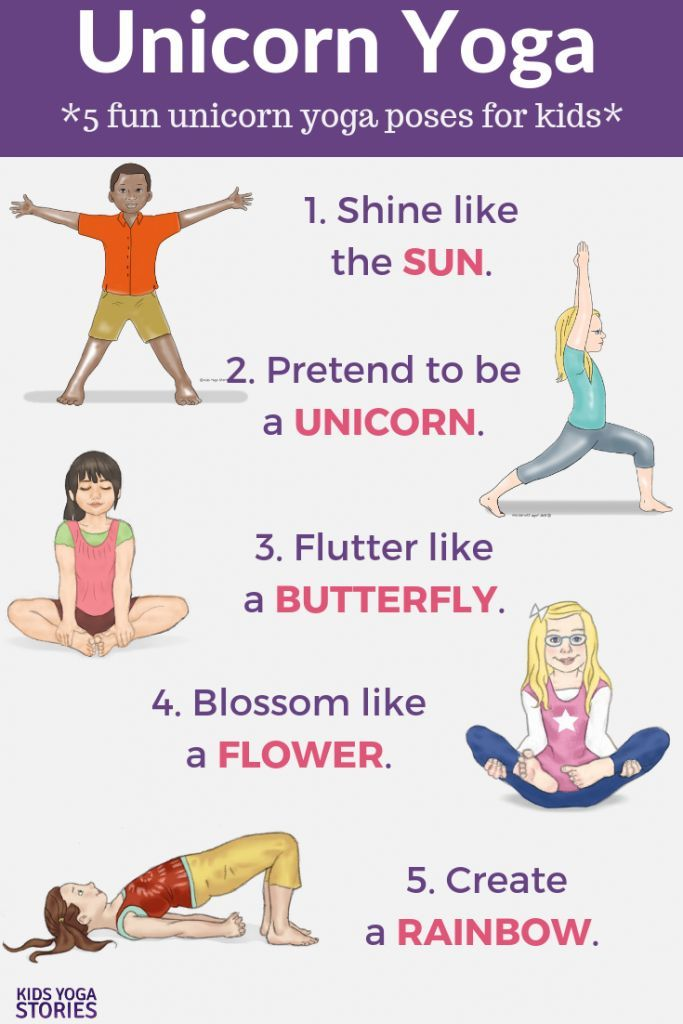 picture regarding Yoga Printable referred to as Unicorn Yoga: Guides and Yoga Poses for Small children (Printable