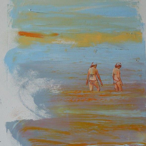 Sisters by Joanna Burda Oil on canvas