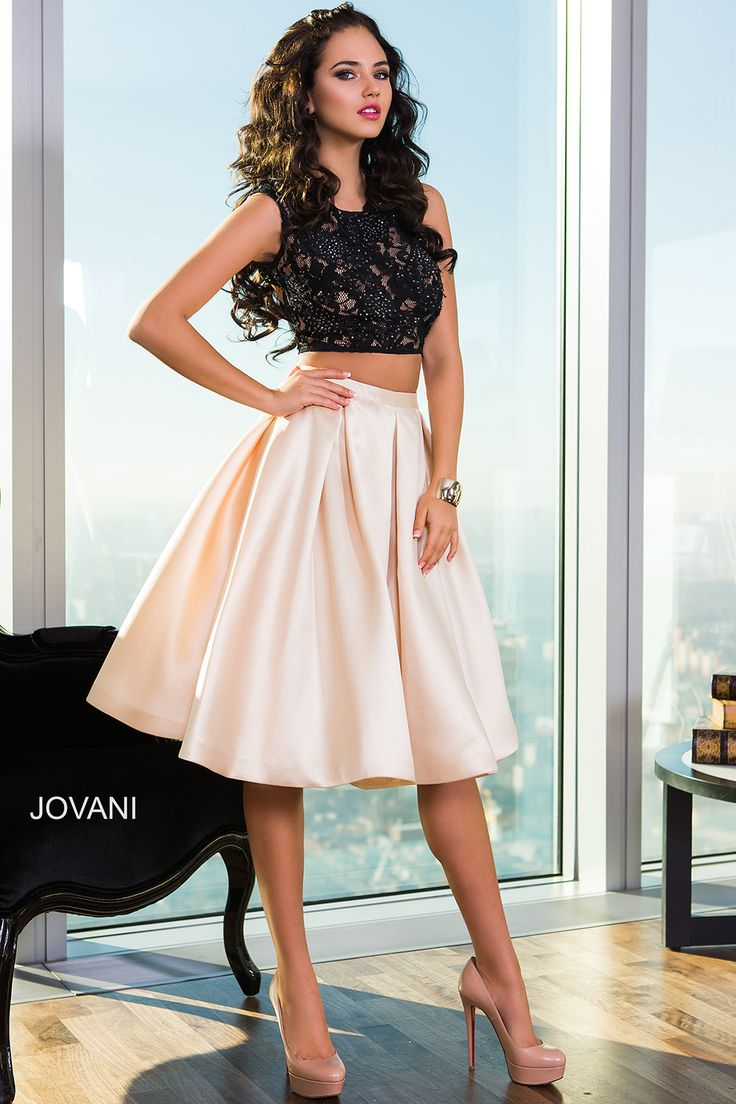 Style 26020 http://www.jovani.com/short-dresses-cocktail-dresses/two-piece-cocktail-dress-26020
