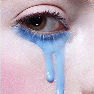 Tears of joy via @marioncgrand #mua #makeup #mood #instabeauty #beautifultears #crymeacream #bluetears #makeupartist #beautylover #closeup #makeup via TUSH MAGAZINE OFFICIAL INSTAGRAM - Celebrity Fashion Haute Couture Advertising Culture Beauty Editorial Photography Magazine Covers Supermodels Runway Models
