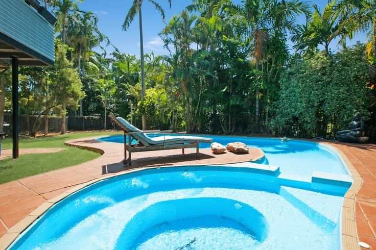 A pool in paradise